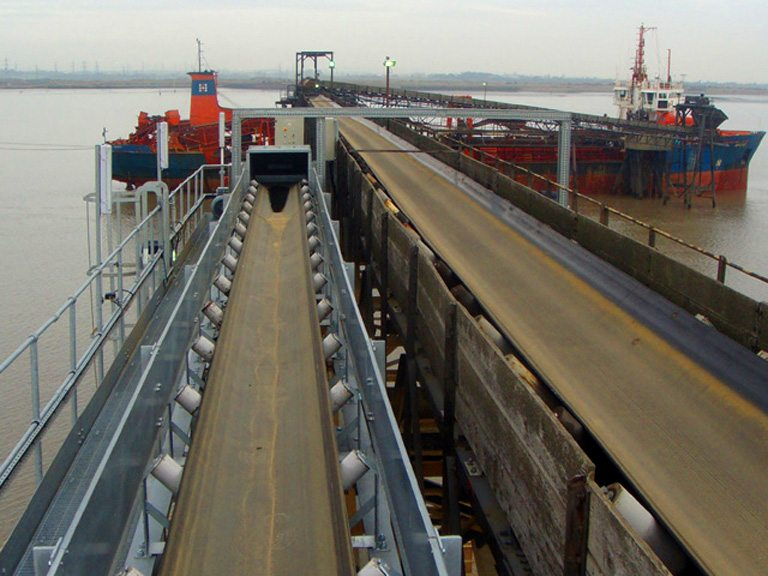 Barge loading conveyor system / Installed at Denton Wharfe