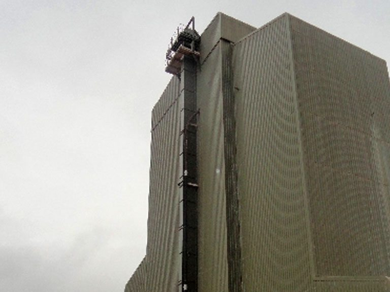 AMH Ltd designed, manufactured and installed this Bucket Elevator at Croxden DSM site near Stoke on Trent