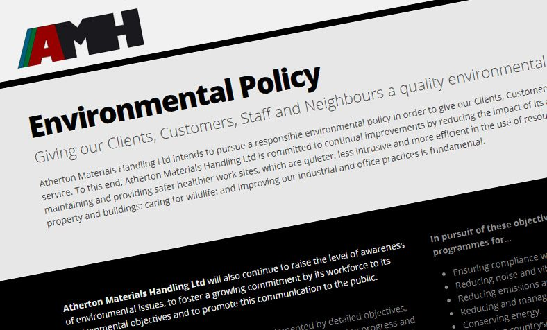 Responsible environmental policies in order to give our Clients, Customers, Staff and Neighbours a quality environmental service