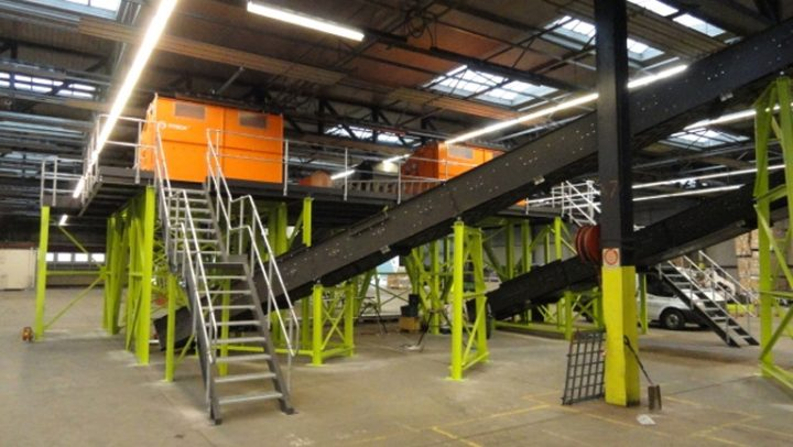 30TPH non-ferrous downstream system – spilt into 3 lines – zero to 30mm – 30mm to 90mm – 90mm to 150mm. System included 11 conveyors