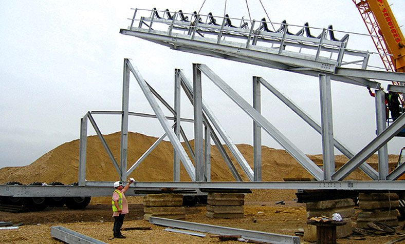 Believed to be the largest radial stockpile conveyor of its kind currently operating in Europe