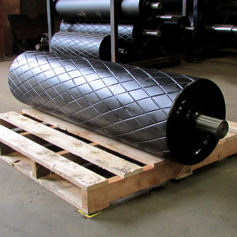 Conveyor Drive Drum – fabricated in a number of ways to ensure the correct life of the drum and the conveyor system