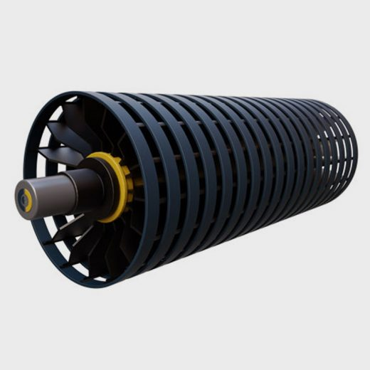 Conveyor Spiral Drum – developed for use in situations where the self-cleaning and self-tracking features of the opposing spirals can be considered to be advantageous