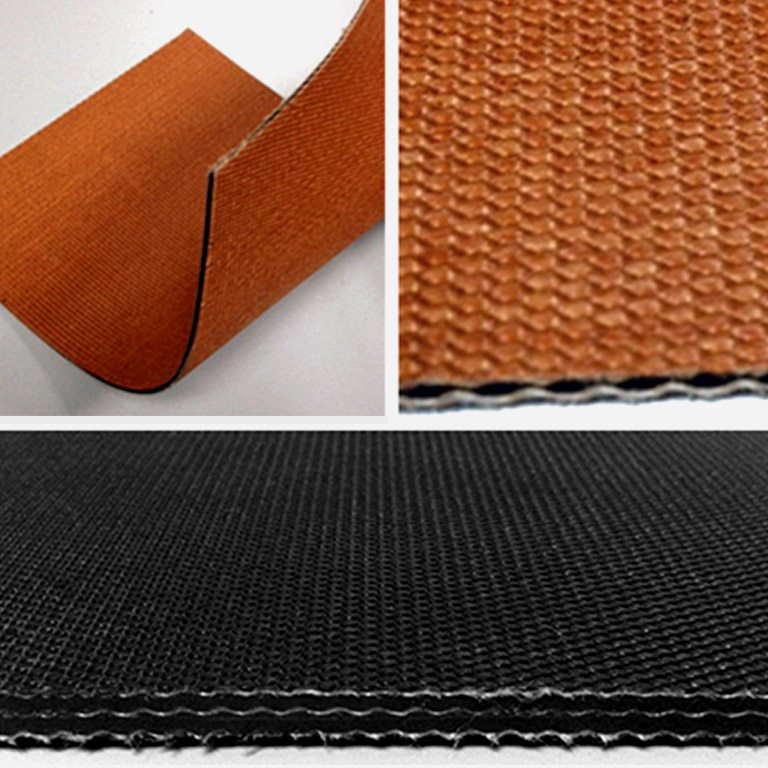 We can offer 2ply 5mm thickness or 3ply 8mm in thickness of the Friction Back Conveyor Belt