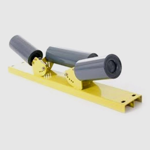 Variable Angle Troughing Sets - have no external side roller supports and require only one shaft to extend from the bottom of the roller
